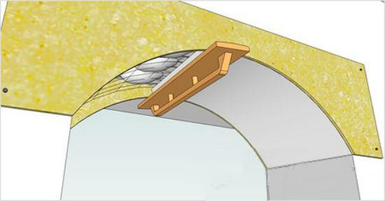 Правило штукатурка откоса арочного дверного проема