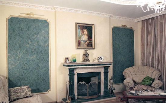 Венецианская штукатурка под мрамор в интерьере классической гостиной