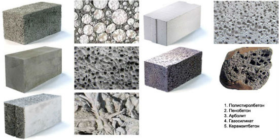 Типы ячеистого бетона под паронепроницаемую штукатурку