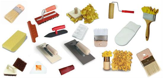 Необходимые инструменты для нанесения декоративной штукатурки с разными текстурами