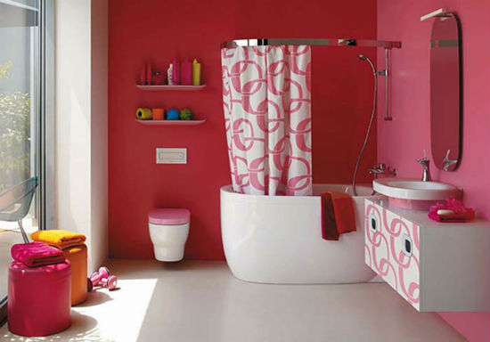 Штукатурка с последующей покраской в интерьере ванной