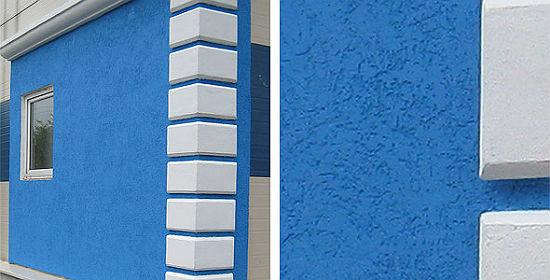 Декоративная штукатурка короед во внешней отделке стен дома
