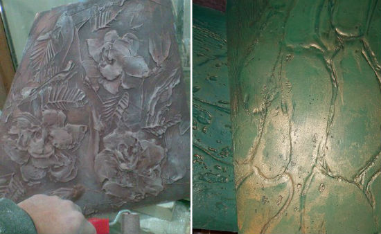 Смывка и патинирование в декорировании стен штукатуркой