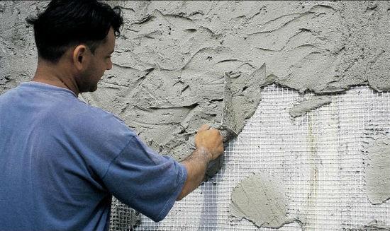 Армирующая сетка для нанесения штукатурки на бетонные блоки