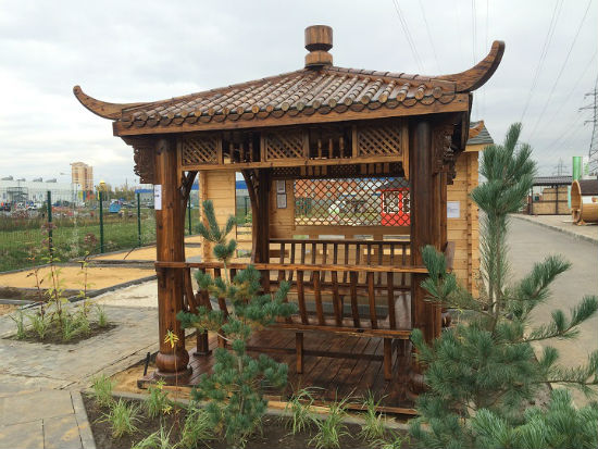 Навес из дерева в китайском стиле