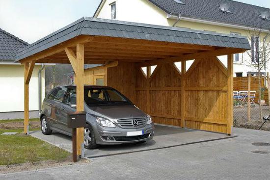 Установка навеса для машины на бетонную площадку