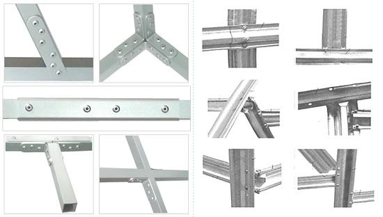 Типы соединений для строительства металлической теплицы